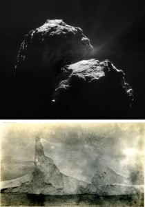 Bottom, photography by William F. Howard, Iceberg sighted from the Discovery, 20th December 1930