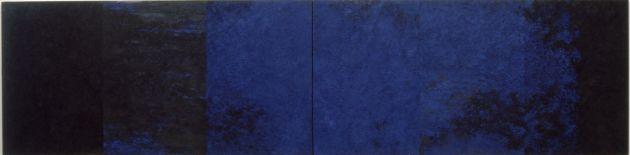 fasisk fortelling, ,120x430cm , olje på lerret 1999